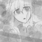 マリーらくがき⑤着色(白黒)